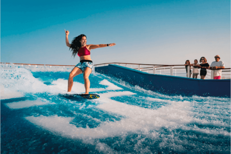 FlowRider Surf Simulator on a Cruise Ship