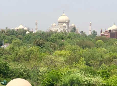 Agra view from Terrace, Hotel