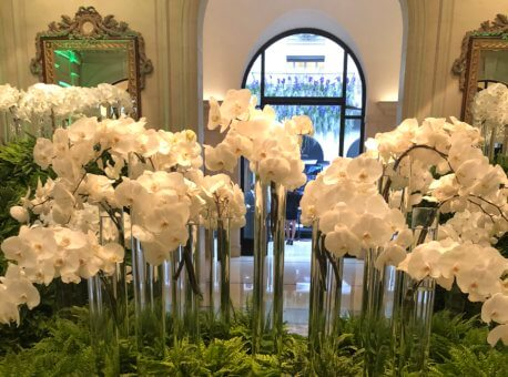 Lobby spectacular flowers