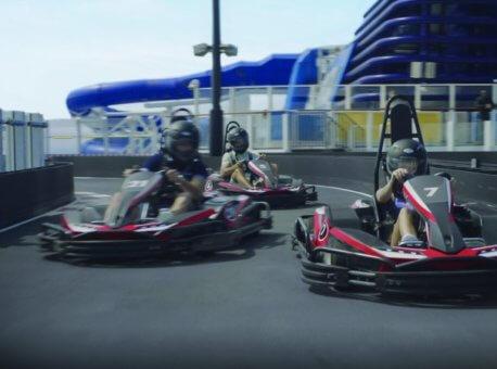 Norwegian Bliss; Norwegian Joy; GoKarts; Racetrack; Go Kart; Lifestyle; Sports Complex; Deck Activities;
