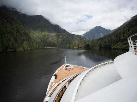 Seabourn Sojourn bow - Misty Fjords, Alaska