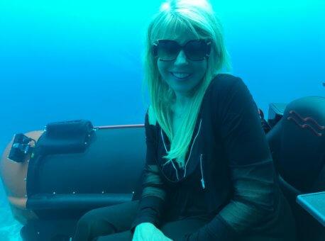 Submatine underwater shot