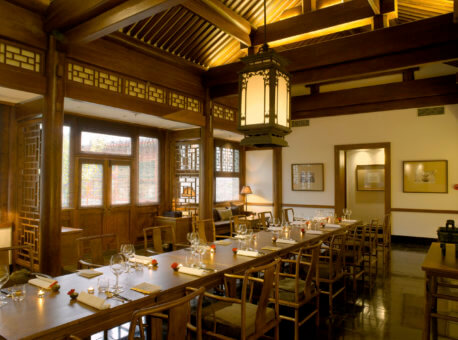 Decorated with Ming Dynasty- inspired furnishings, the Chinese restaurant serves Peking duck and several imperial dishes, along with traditional Cantonese cuisine. The restaurant comprises of nine different rooms, six of which are intimate areas intended for private gatherings.