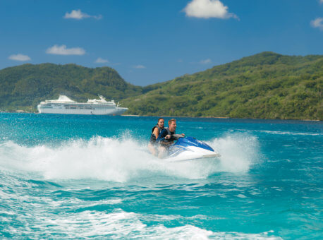 Experience the unparalleled beauty of the islands in a fun-filled new way during this scenic and exciting waverunner excursion.