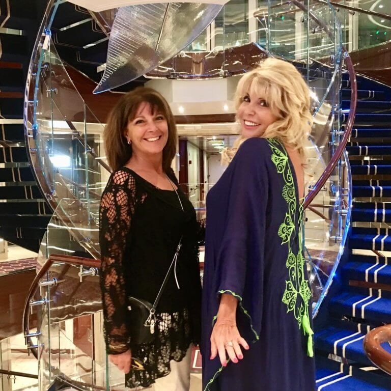 Mary Jean Tully and Loretta Darcy aboard Seabourn Encore