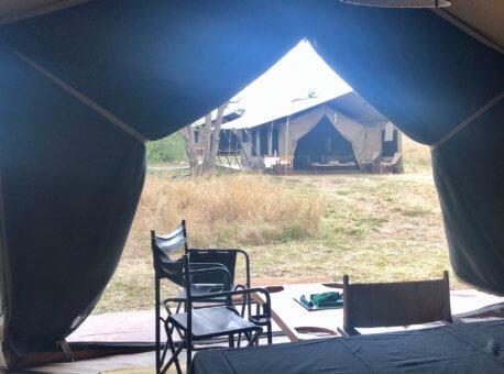 Mary Jean visiting Singita Explore Lodge in Tanzania