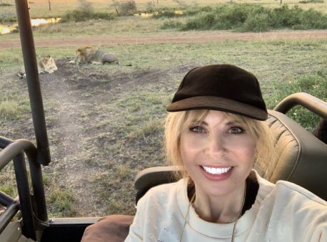 Mary Jean visiting Singita Serengeti House in Tanzania