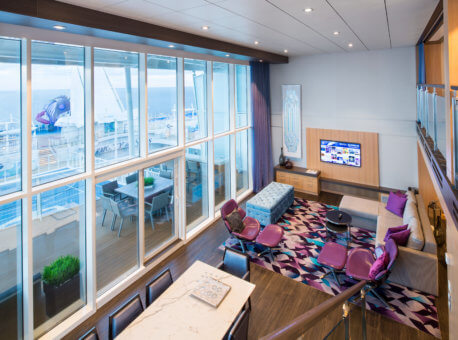 HM, Harmony of the Seas, Royal Loft Suite Cat. RL - Living room - Room #1744 Deck 17 Midship Starboard