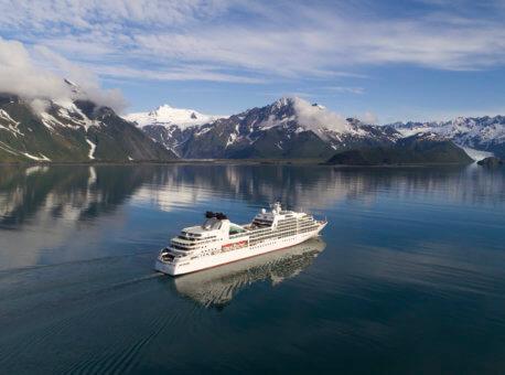 Seabourn Sojourn aerial - Aialik Bay, Alaska