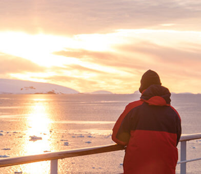 Antarctica-Onboard-Sunset