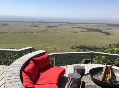 A beautiful view overlooking the Mara