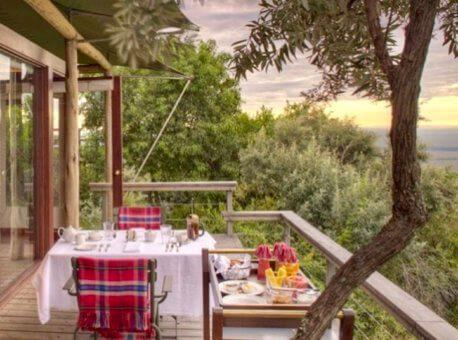 Breakfast on my deck (1)
