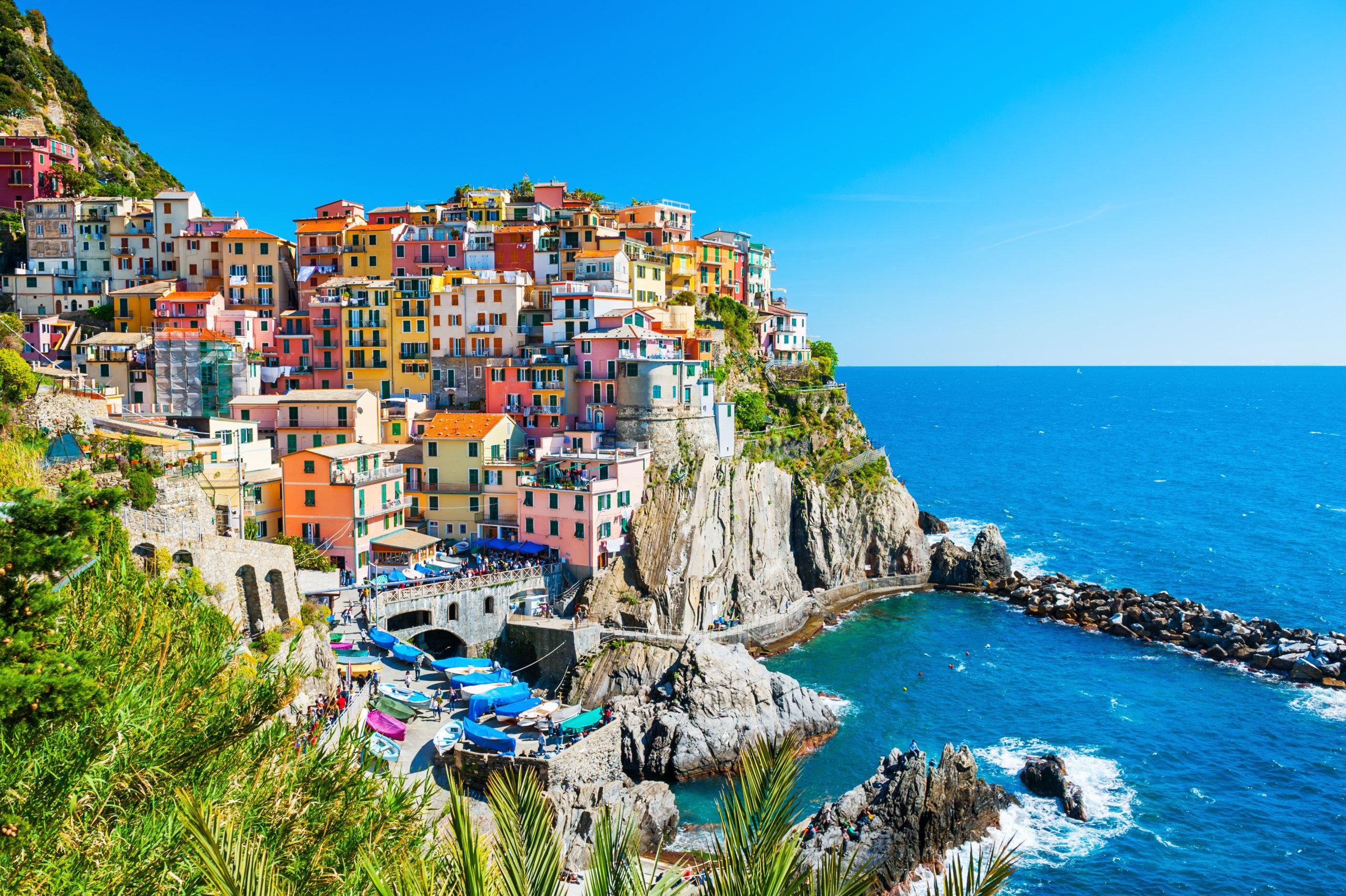 Beautiful view of Manarola town, Cinque National Park, Liguria, Italy